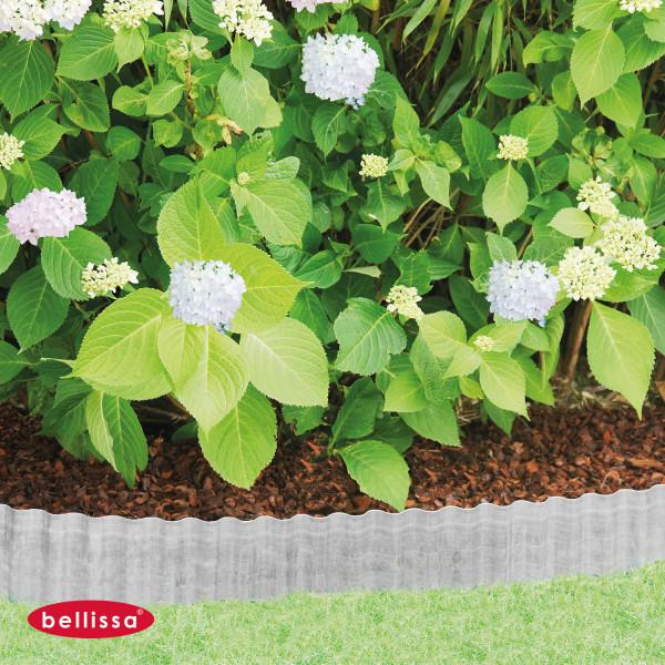 Rasenkante als Beetbegrenzung aus Metall 140 mm