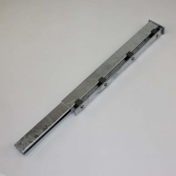 Verbindung der Stahlmatten mit Pfostenverlängerung
