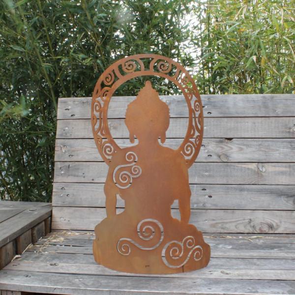 Yoga Firgur rost Garten Dekoration