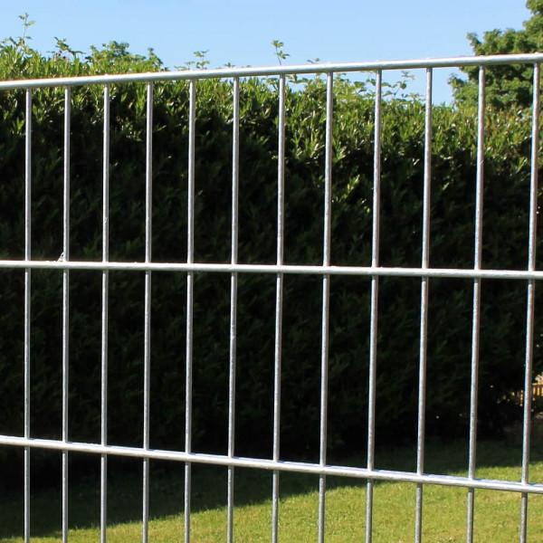 Stabgitterzaun, Stahlgitterzaun 200 cm Doppelstabgitterzaun günstig kaufen