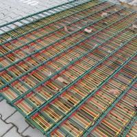 Doppelstabmatten 2030 mm grün 100x200 mm 3er SET