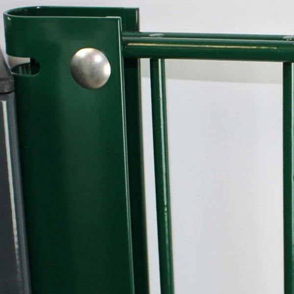 Maueranschluß grün  für Doppelstabmatten