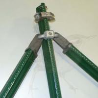 Zaunpfosten kpl. als Eckpfosten, Zaunhöhe 1750 mm, grün