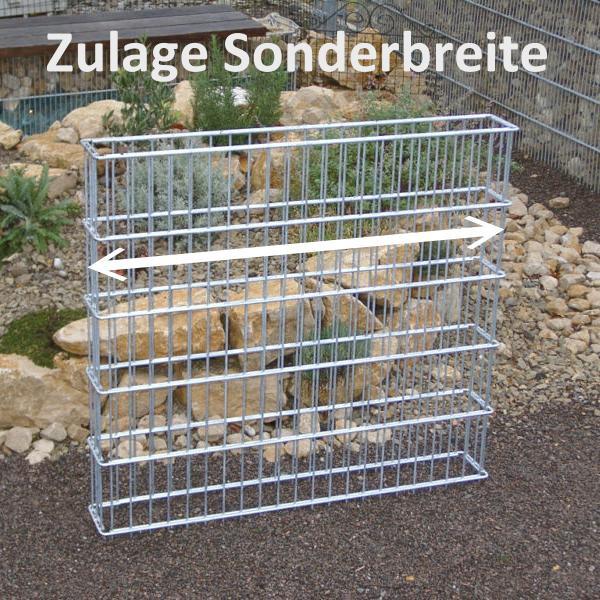 Zaungabione Zulage für Sonderbreite