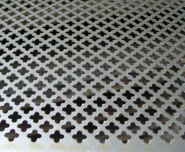 Lochblech für Heizkörperverkleidung Muster Sternlochung