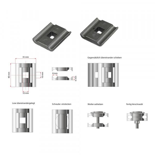 Technische Zeichnung zu Eckverbinder LEV-I