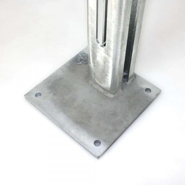 Standfuss-Bodenplatte für Tor 80x80 mm in verzinkt