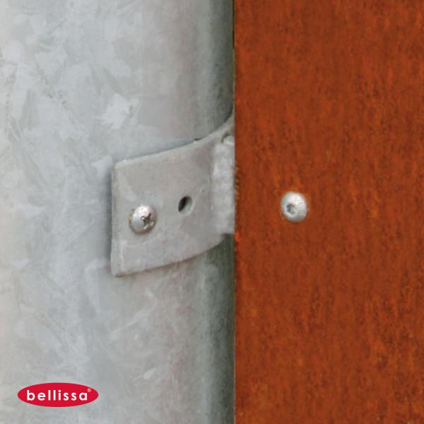 Gabione Mauer Blech Sichtschutz
