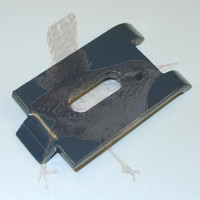 Mattenhalter gekröpft beidseitig verzinkt, weiss beschichtet