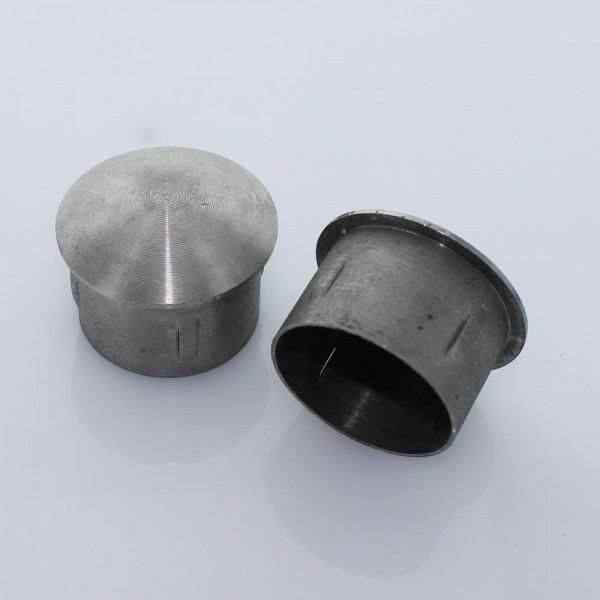 Einschlagstopfen gewölbt Ø 48 mm blank schmal