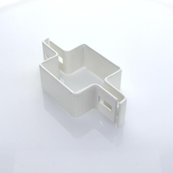 Schelle 80x60 weiss Mittelschelle 2 teilig