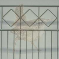 Höhe 1230 mm, Gittertyp Karo-SL, beschichtet