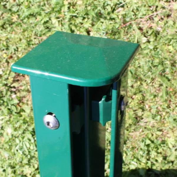 Zaunpfosten für Ecke 1,8 m, Rechteckprofil 60x60 mm grün