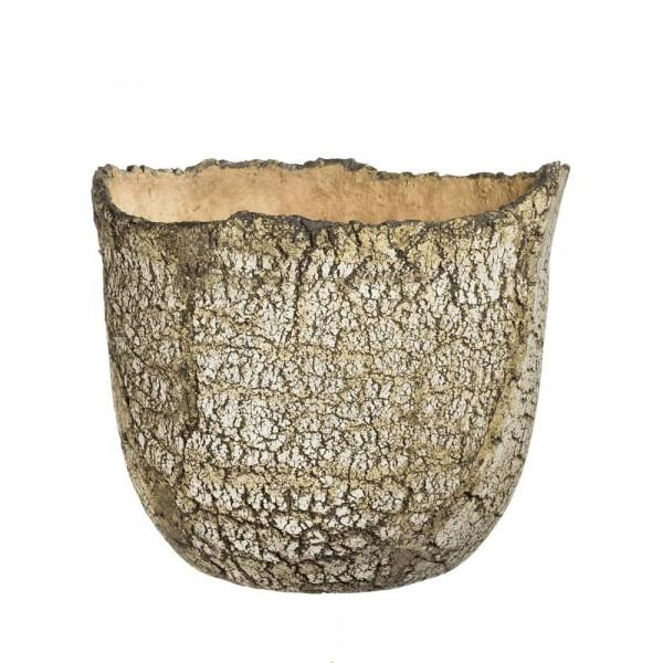 Blumenübertopf 25 cm hoch aus frostfestem Keramik für draußen