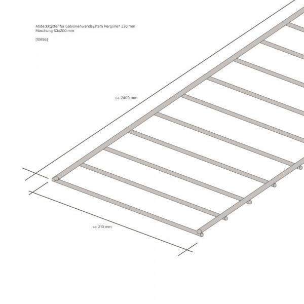 Wandsystem 230 mm Pergone® Abdeckgitter mit Klammerset