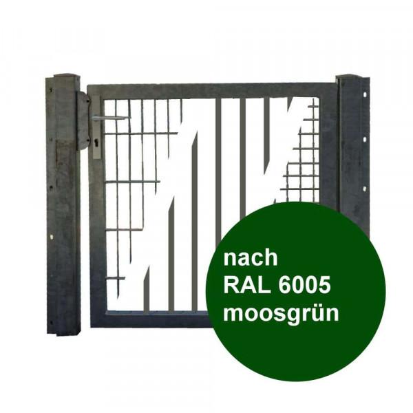 Industrietor Doppelstabmatte 1,25x0.80 Meter grün