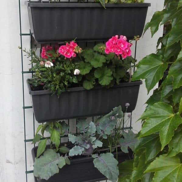 Pflanzkastenhalterung unsichtbar an Zaun