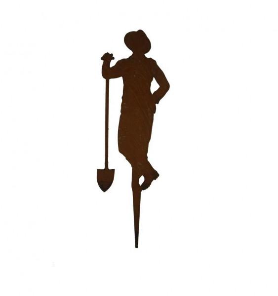 Paul Gärtner mit Schaufel auf Spieß 30 cm
