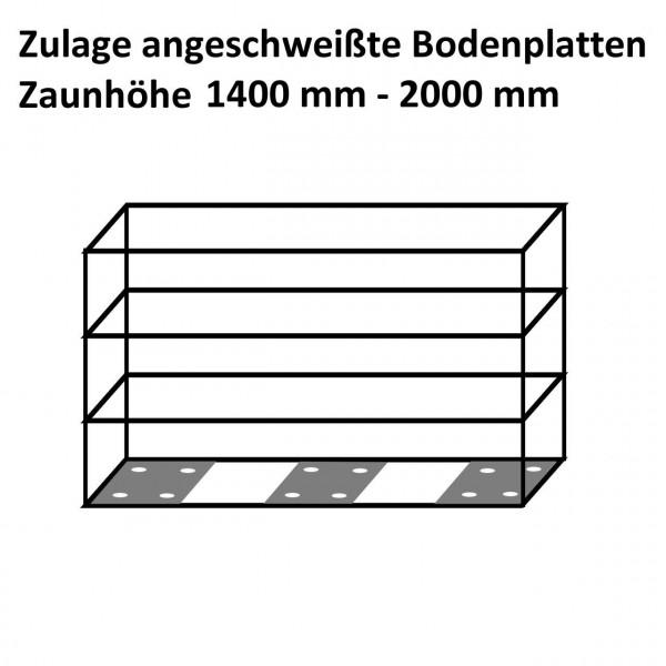 Zaungabione Zulage anges. Bodenplatten 1400 - 2000 mm