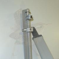 Zaunpfosten kpl. als Anfangspfosten, Zaunhöhe 1750 mm, grau