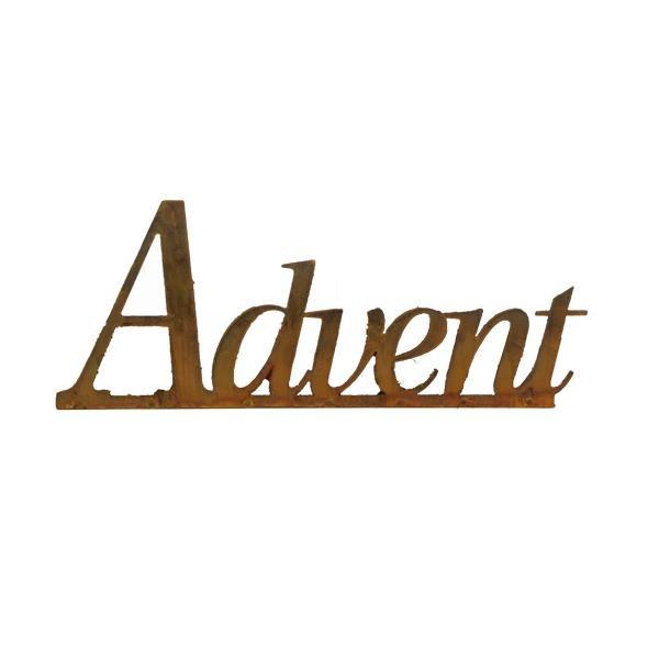 Rost Advent Schriftzug Auf Platte 600 Mm Dekoelemente