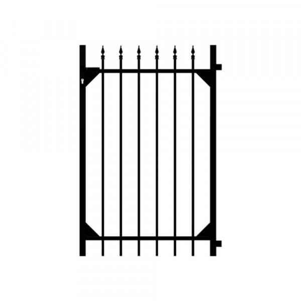 Gartentür für Aluminium Zaunanlage schwarz