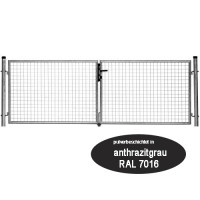 Gartentor 4000 x 1500 mm Topcolor Plus anthrazit