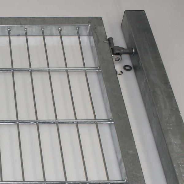 Drehflügeltor Toraufhaengung und das Torband