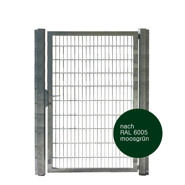 Gartentor 125 x 200 cm Industriequalität in grün