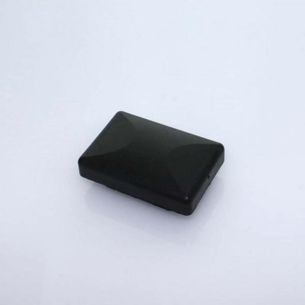 f/ür Quadratische und Rechteckige Rohre 4 Abdeckkappen Kunststoff schwarz