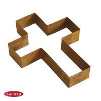 Pflanzschale Formkante Kreuz Corten-Stahl