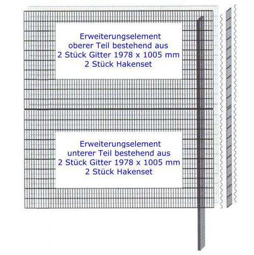 Mauersystem Paravento Gabionenwand 1978x2010