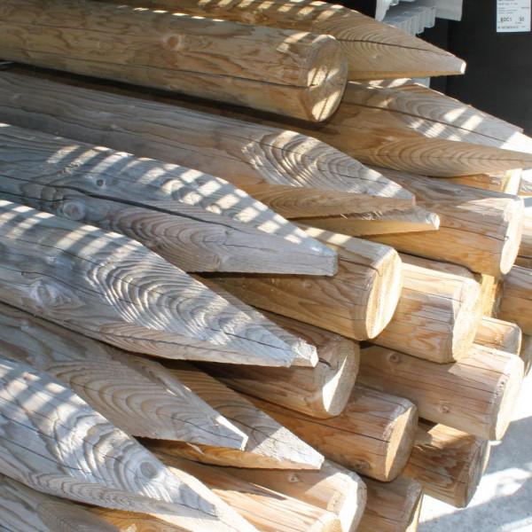 Wildschutz Holzpfahl