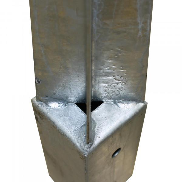 Holzpfosten Bodenhülse 71x71x750 mm