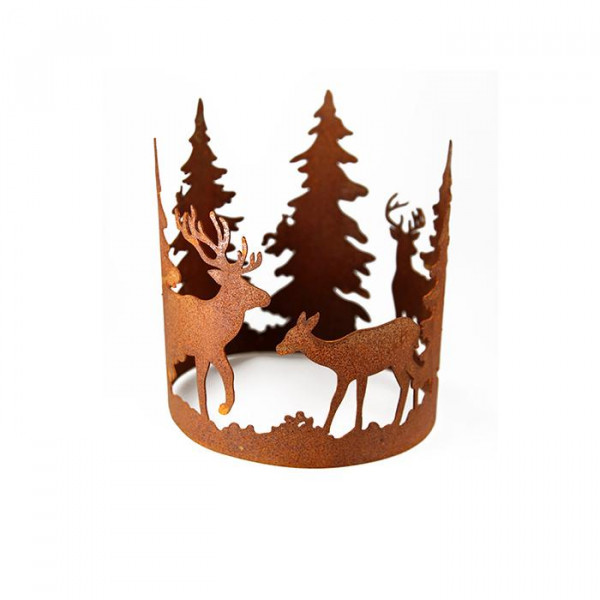 Rost Dekoring Forest Mit Waldszene 100 Mm Dekoelemente