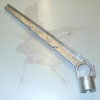 Stacheldrahtabweiser für Ø 042 mm Typ II Aluminium