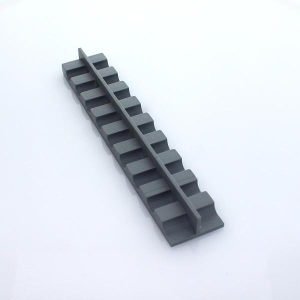 Mattenhalter für Gittermatte im Höhenversatz grau
