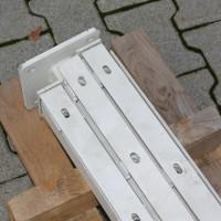 Pfosten 1830 mm - HS SET - mit angeschweißten Bodenplatten
