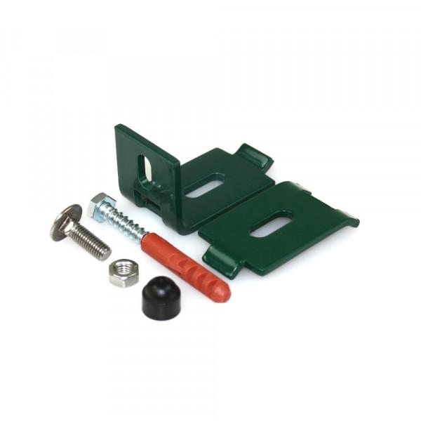 grüner Wandanschlus für Stahlmattenzaun
