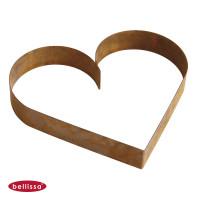 Pflanzschale Formkante Herz Corten-Stahl