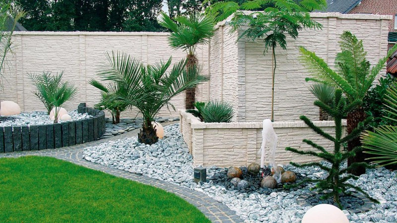betonzaun mediterran sichtschutz becker 39 s betonzaun sichtschutzzaun z une drahtwaren. Black Bedroom Furniture Sets. Home Design Ideas