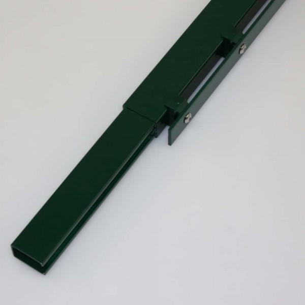 Stahlmatten verbinden mit Adapter für Rechteckrohr.
