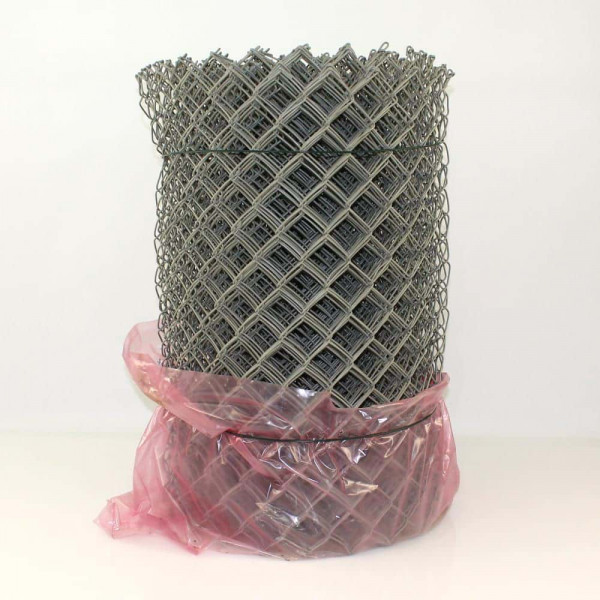 Maschendrahtzaun grau ummantelt 1250 mm, Masche 50x3.1 mm