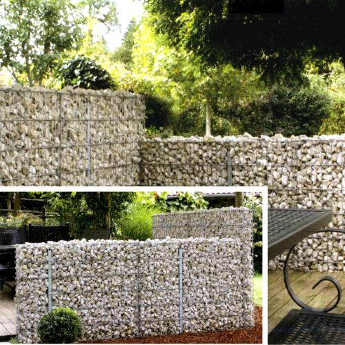 mauersystem limes mauersysteme gabionen in form gartenartikel drahtwaren driller gmbh. Black Bedroom Furniture Sets. Home Design Ideas