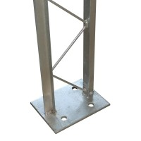 Mauersystem 2100 mm - Pfosten mit Bodenplatte zum Aufdübeln
