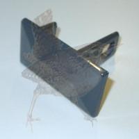 Abdeckkappe anthrazit 060040 mm Aluminium mit Schraublasche
