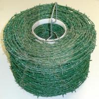 Stacheldraht 250 Meter verzinkt grün beschichtet 2,0 mm