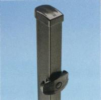 Höhe 0650 mm anthrazit, Pfosten Bekafor Click® für Zenturo®