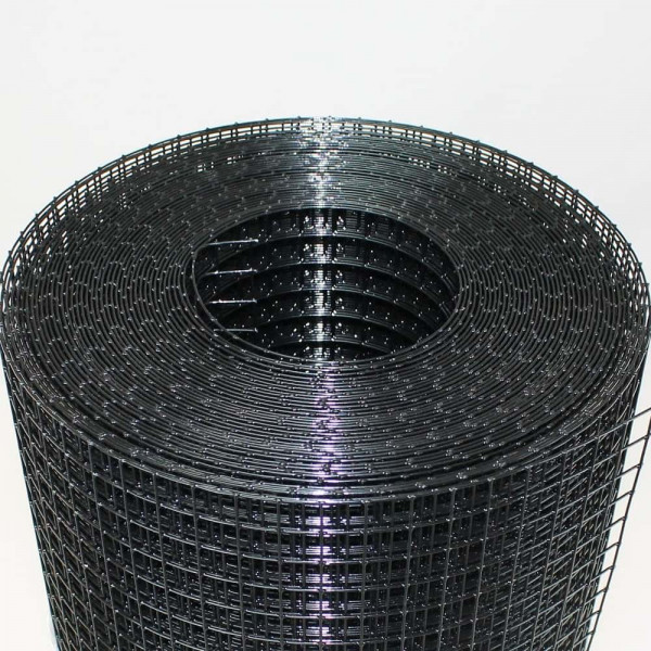 Metallgitter schwarz. Drahtgitter für Vogelkäfig.