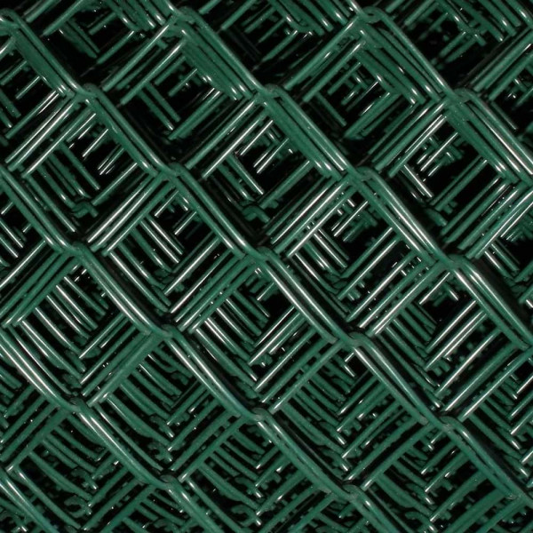 Maschendrahtzaun grün  2000 mm, Geflecht 30x3,1 mm auf Wunschmaß zugeschnitten